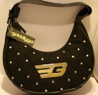 Gold digga Black Handbag